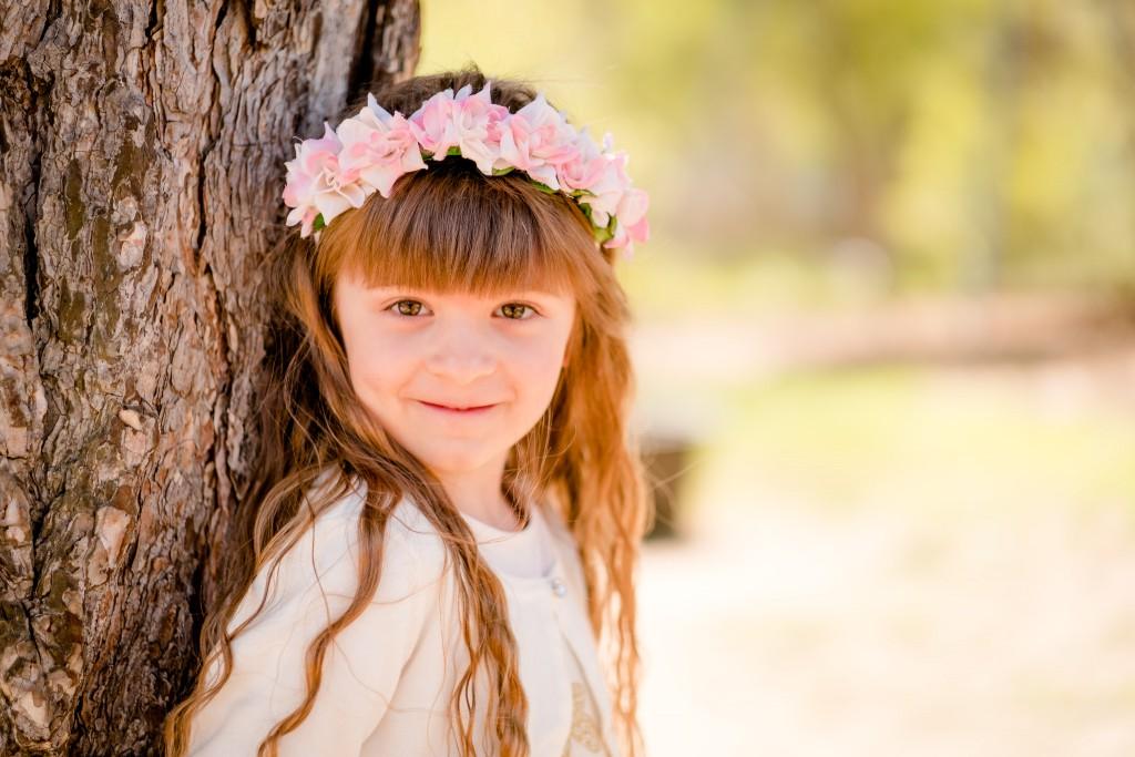 Kindergartenfotografie, draußen, modern, Kind, Mädchen